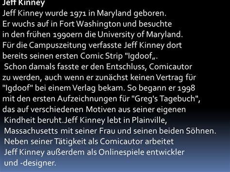 wann ist jeff kinney geboren gregs tagebuch presentirt lars und andy ppt