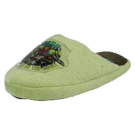turtles slippers boys nickelodeon slip on warm indoor turtles slippers
