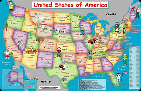 united states of america usa large wall map poster us 50 states map