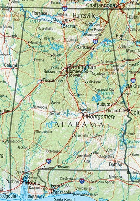 texas to alabama map alabama geography and maps