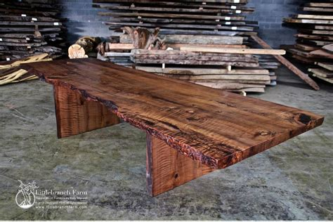 wooden slab table rustic dining table live edge wood slabs littlebranch farm