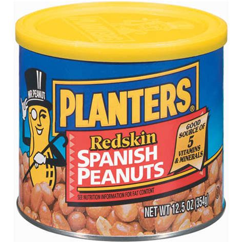 Planters Redskin Peanuts With Sea Salt by Planters Redskin Peanuts 12 5 Oz Walmart
