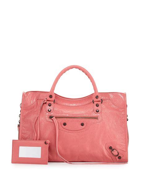 Guess Who The Balenciaga City Bag by Lyst Balenciaga Classic City Bag In Pink