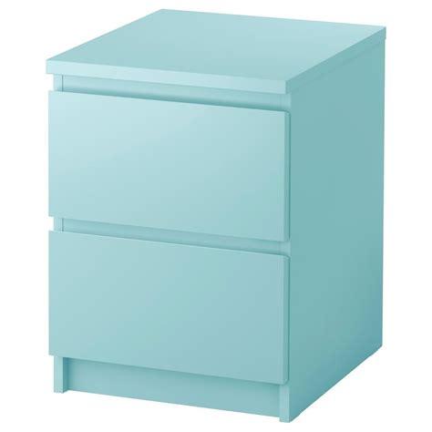malm comodino ikea cassettiera malm 2 cassetti comodino 242 5 colori ebay