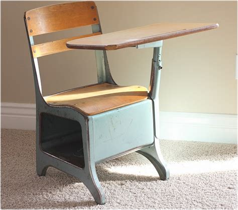 Old School Desk Chair Attached Hostgarcia Fashioned Student Desk