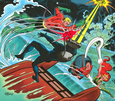 super dc calendar  june aquaman  black manta  aqualad  mera aquaman