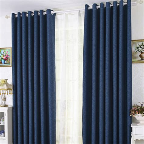 bedroom curtains blue modern linen cotton blue blackout bedroom curtains