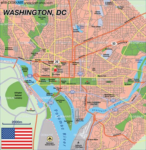 washington dc united states map map of washington dc capital in united states welt