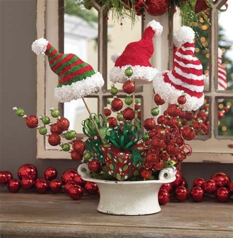 cute santa hat decor holiday cheer pinterest