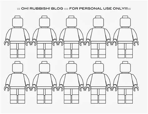 lego figure template 6 best images of lego minifigure printables lego