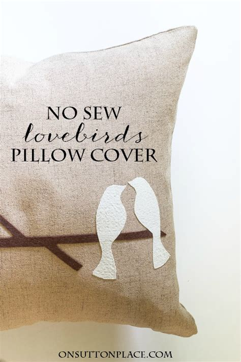 New Sew Pillow Cover by No Sew Lovebirds Pillow Cover On Sutton Place