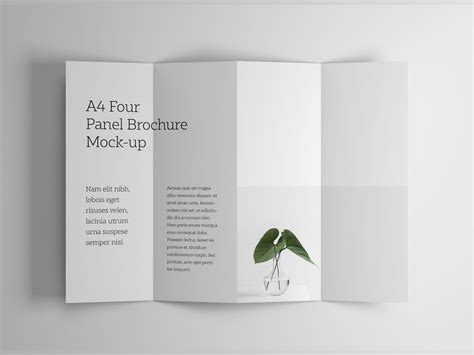 4 Panel Brochure Template by A4 Four Panel Brochure Mockup
