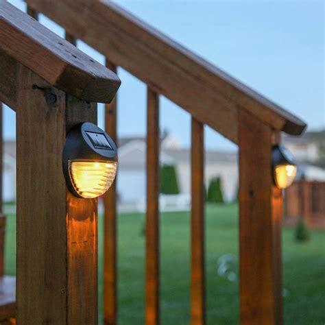 Solar Fence Lighting Lights Solar Solar Wall Brown Solar Fence Lights