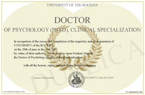 Computer Science And Psychology For Mba Program by Doctor Of Psychology Psyd Clinical Specialization