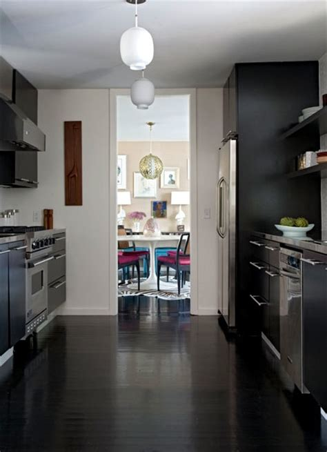 black galley kitchen black galley kitchen contemporary kitchen angie hranowski
