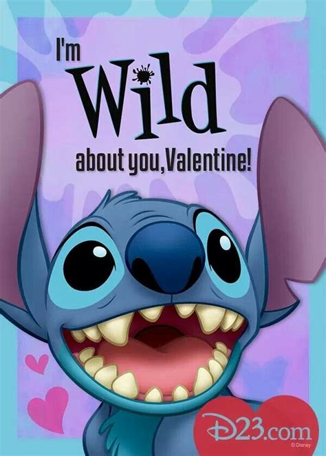 Valentines Day Card Template Stitch by Stitch Disney Stitch Lilo