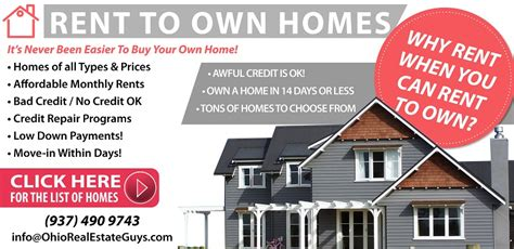 rent to own homes dayton ohio rent to own real estate