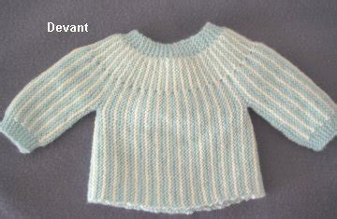Modèle Brassière Bébé Sans Couture