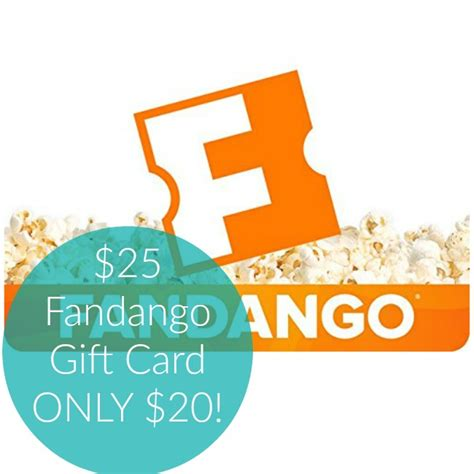 Fandango Gift Card Promo Code - hot 25 in fandango gift cards only 20