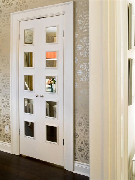 Closet With Mirror Doors 10 Inspiring Interior Doors Interior Design Styles And Color Schemes For Home Decorating Hgtv