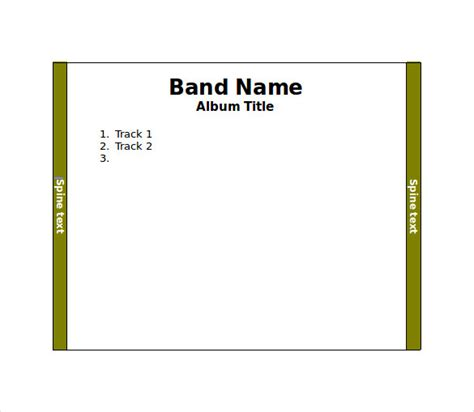 format cd download free jewel case template 11 free word pdf psd eps
