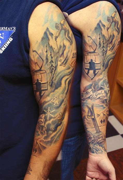 27 strange stunning and surreal ski tattoos mpora