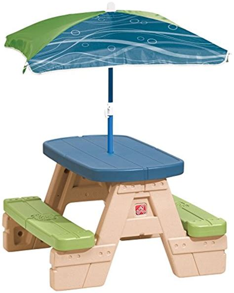 step2 sit and play picnic table with umbrella toys
