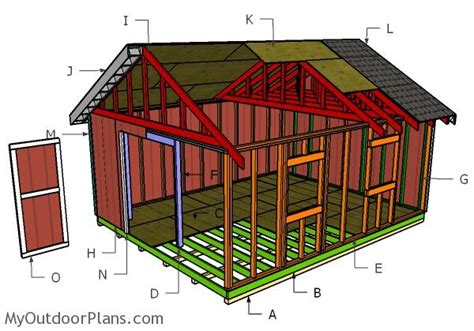 16x20 shed plans myoutdoorplans free woodworking plans and projects diy shed wooden