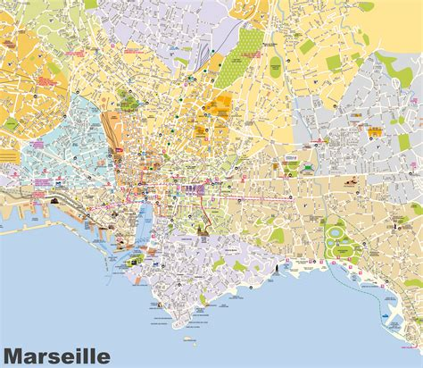 map of marseille marseille tourist map