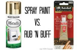 rub n buff colors our fifth house spray paint vs rub n buff