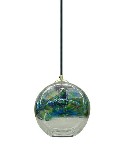 blown glass hanging lights in stock banded blown glass pendant light