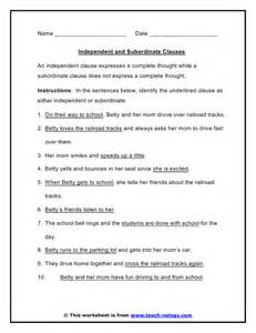 independent and dependent clause worksheets abitlikethis