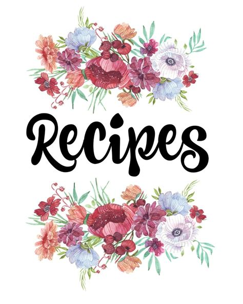 recipe book cover template free how to organize recipes free printable recipe binder