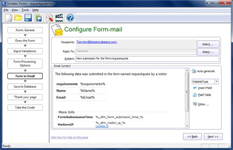 email student uksw simfatic forms screen shots