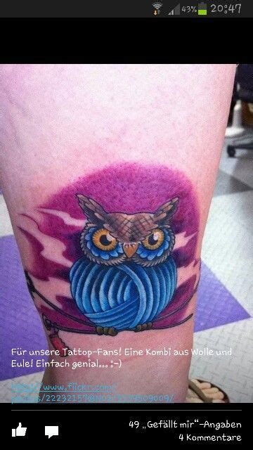 owl knitting tattoo 26 best crochet tattoos images on pinterest crochet