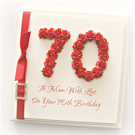 Paper Roses For Card - 70th birthday card gift boxed paper roses the