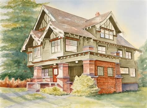 painting of house the hues of historical homes watercolorist depicts fort