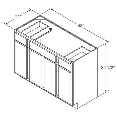 48 sink base cabinet vsb4821345 geneva 48 quot vanity sink base cabinet rta rta