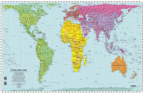 peters projection map the savvy traveller peters projection world map