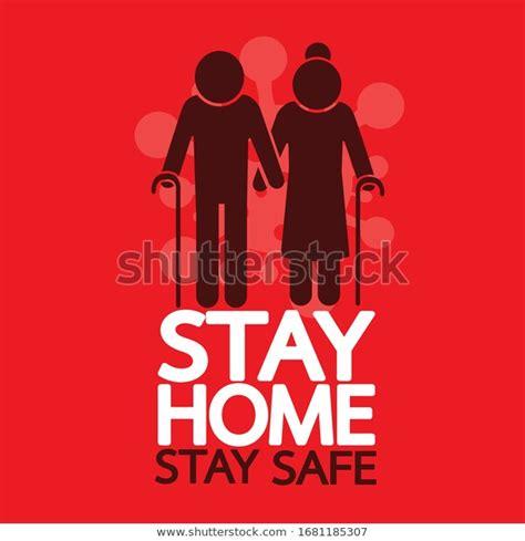stay home stay safe quote vector stock image
