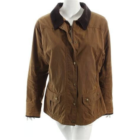 country style wax jacket barbour waxed jacket brown country style women s size uk