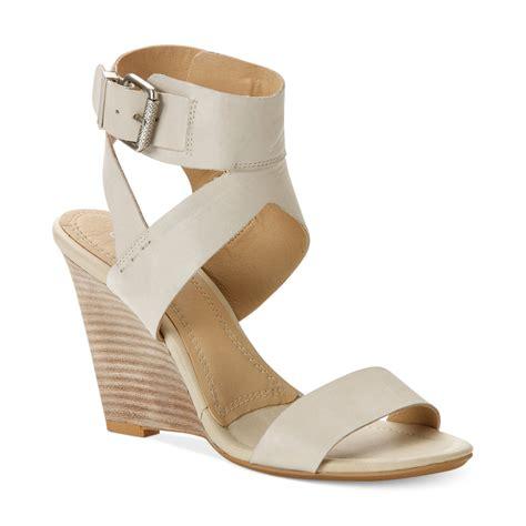calvin klein wedge sandals calvin klein ck womens maisi wedge sandals in white