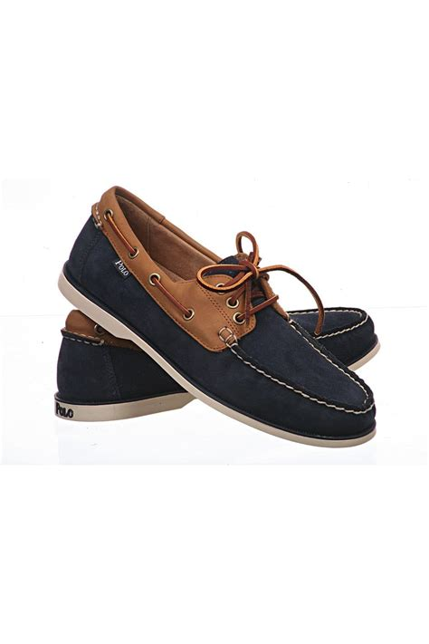 ralph suede boat shoes bienne suede w2t76 polo