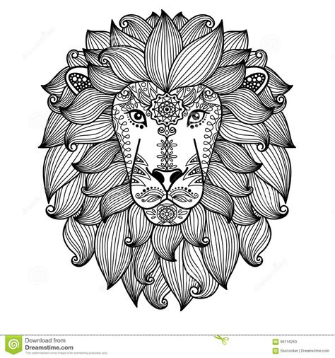 pattern drawing lion lion face pattern gallery