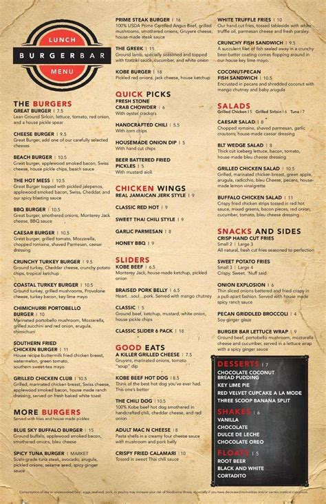 top bar burger menu burger bar palm beach gardens menu garden ftempo