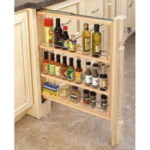 6 inch base cabinet filler 6 inch base filler pull out spice rack