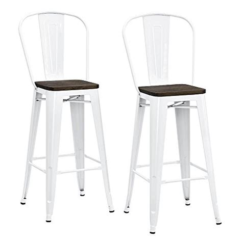 Dhp Luxor Metal Bar Stool by Dhp Luxor Metal Counter Stool With Wood Seat And Backrest