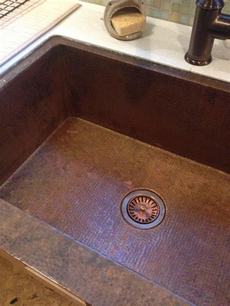 How A Copper Sink Re Patinas Itself Naturally Coppersink