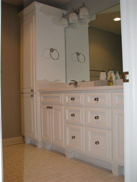 Small Bathroom Vanities Ideas Longer Bathroom Linen Cabinets Jen Amp Joes Design