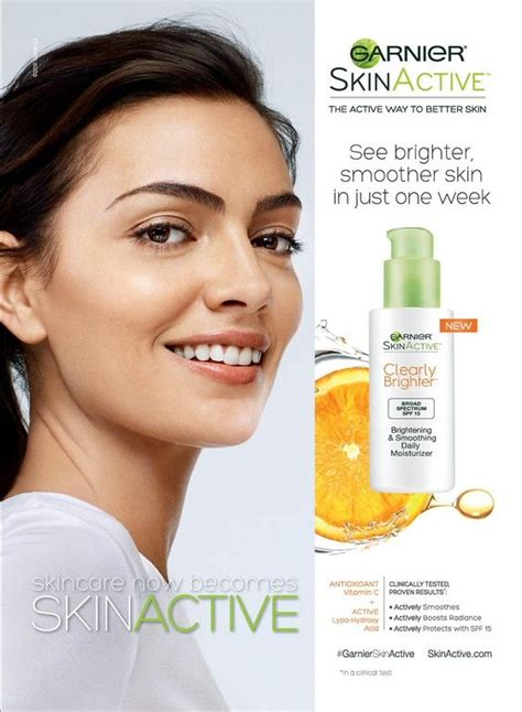 Eyeliner Garnier garnier skinactive clearly brighter skincare advertising